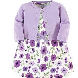 HP🍉Girl dress cardigan 100% organic cotton purple